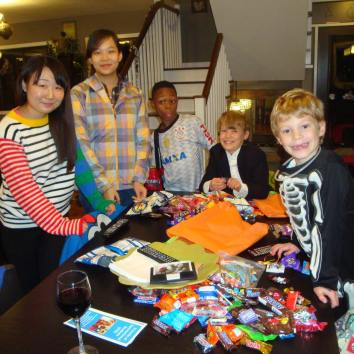 Celebrating Halloween with FIS Friends 2015